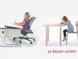 Haltungsschäden , falsche Sitzhöhe, Rückenprobleme