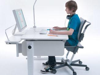 richtig sitzen, Stuhl korrekt auf Körpergröße eingestellt, Neigungswinkel